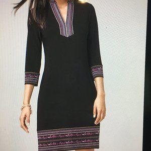 Sleek matte jersey knit shift dress Size XS (2)